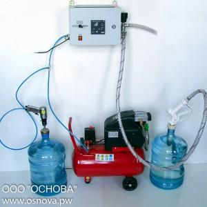 Оборудование для розлива воды в 19 литровые бутыли ДУЭТ-П-19